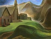 Lillooet Indian Village 1933 By Emily Carr