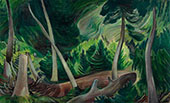 Lush Forest Clearing Landscape By Emily Carr
