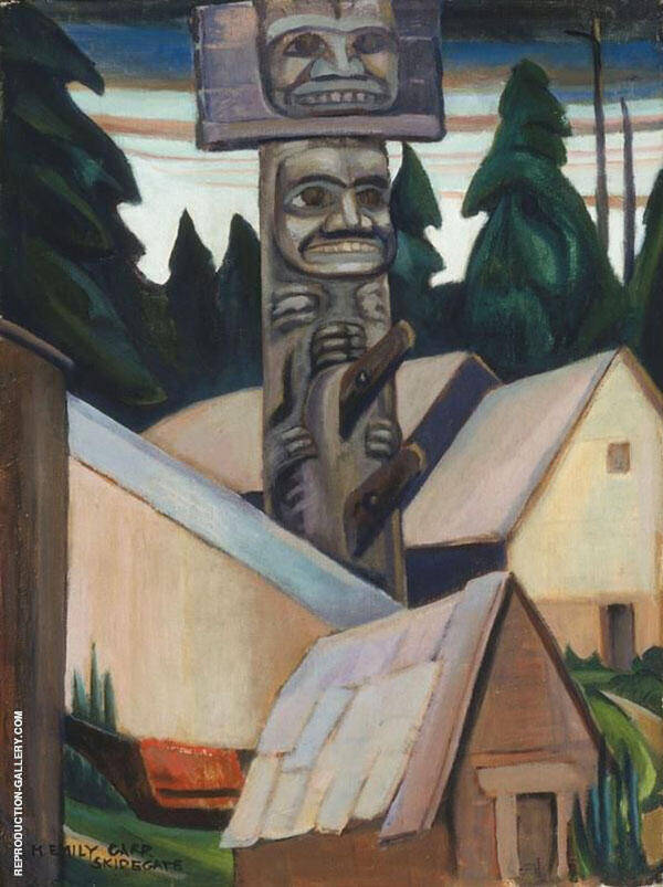 Skidegate 1928 By Emily Carr
