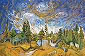 Stumps and Sky 1934 By Emily Carr