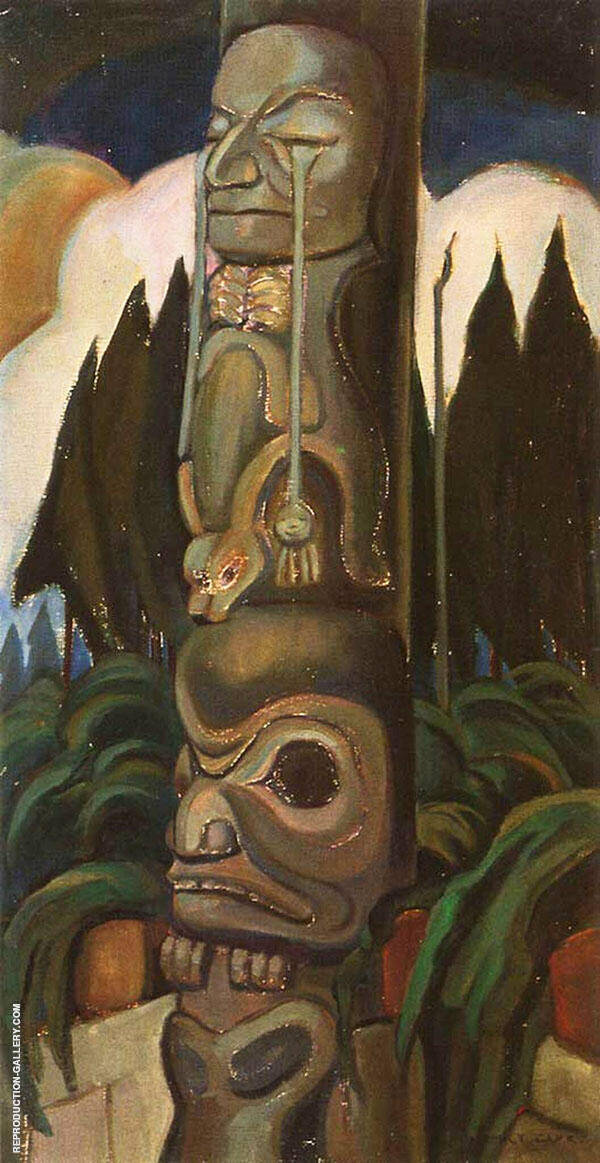 Crying Totem 1928 By Emily Carr