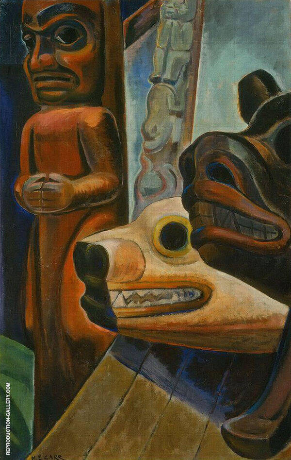Three Totems 1928 By Emily Carr