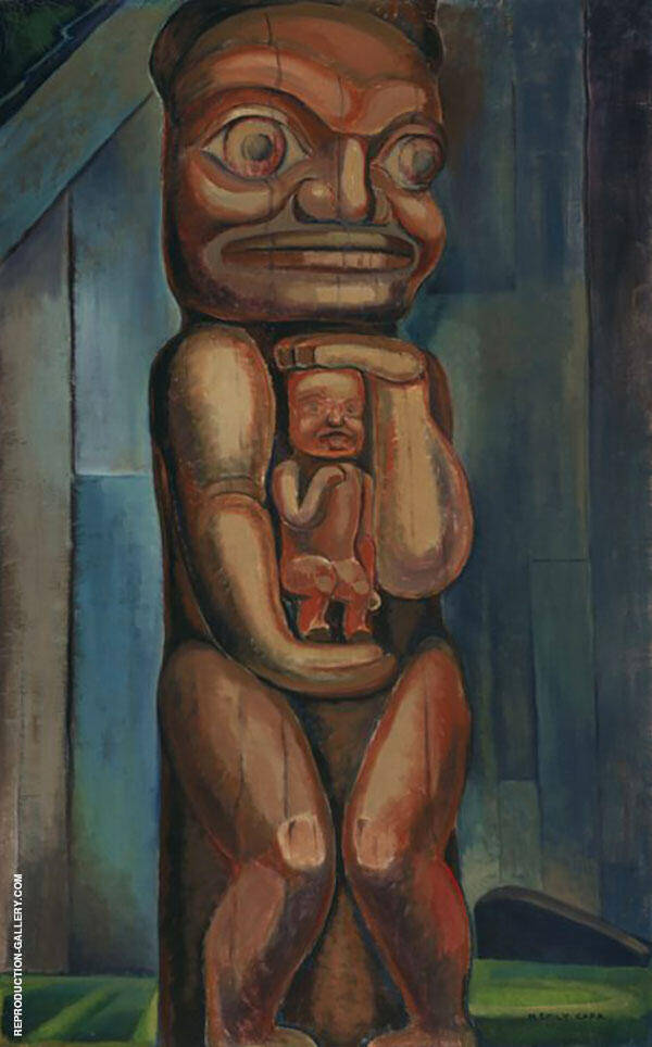Totem Mother Kitwancool 1928 By Emily Carr