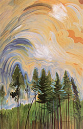 Young Pines Sky 1935 By Emily Carr