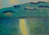 Moonlight Landscape By Marianne von Werefkin