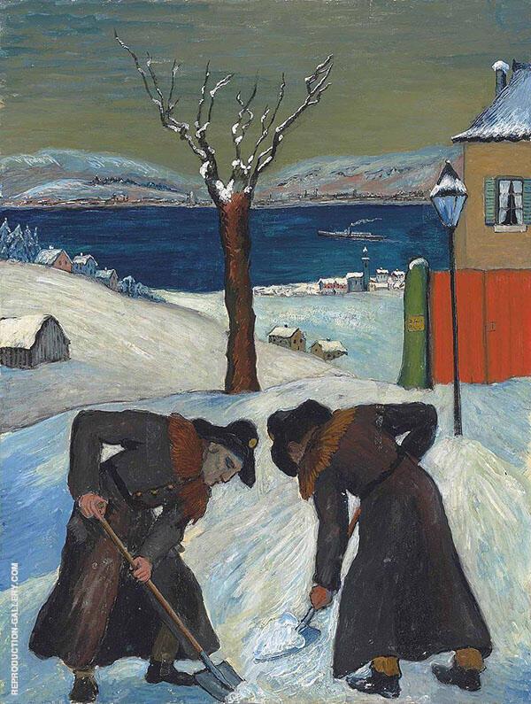 Overnight Snow 1918 By Marianne von Werefkin