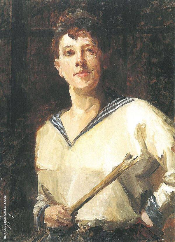 Self Portrait in Sailor Blouse 1893 By Marianne von Werefkin