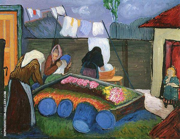 Washerwoman By Marianne von Werefkin