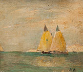Seascape with Sailboats c1917 By Emil Carlsen