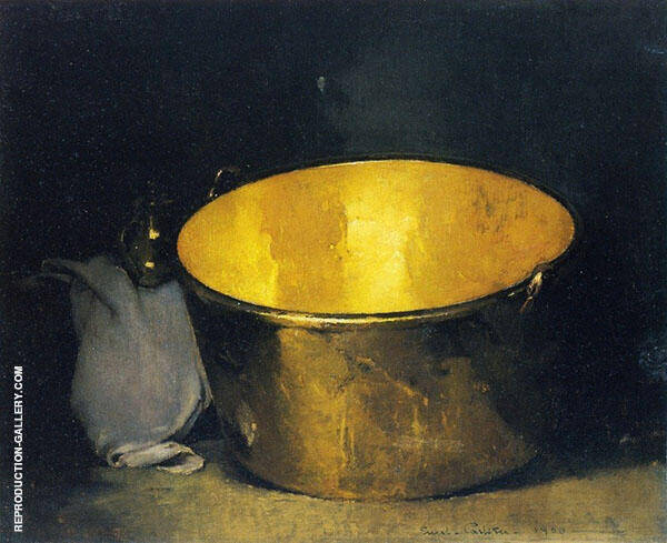 Still Life Brass and Copper By Emil Carlsen