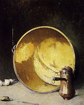 Still Life Brass and Copper 1926 By Emil Carlsen