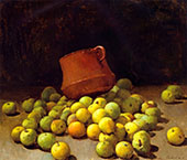 Still Life with Apples 1908 By Emil Carlsen