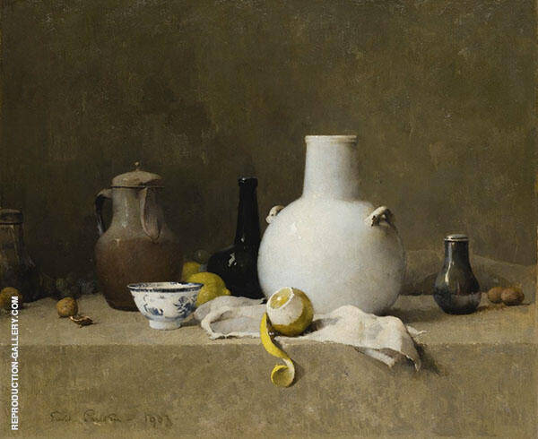 Still Life with Pottery Jars 1903 By Emil Carlsen