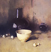 Still Life with Self Portrait 1931 By Emil Carlsen