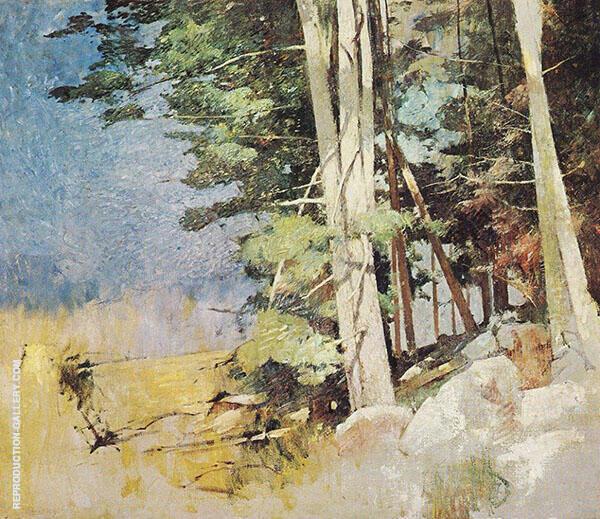 Sunlit Wood c1928 By Emil Carlsen