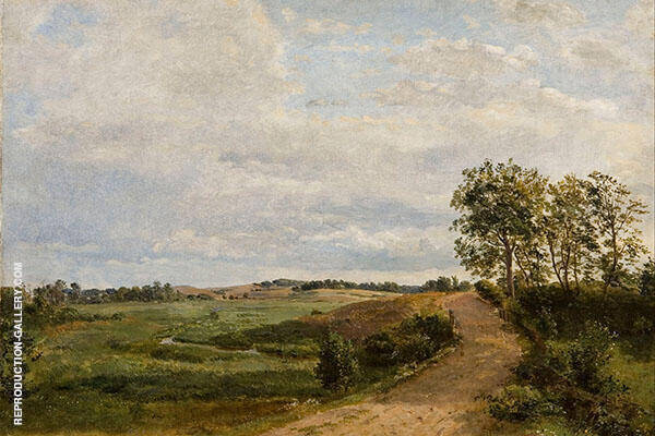 A Country Road by Anton Mauve   Oil Painting Reproduction Replica On Canvas - Reproduction Gallery