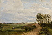 A Country Road By Anton Mauve
