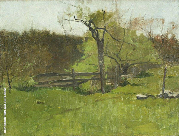 The Old Fence c1920 By Emil Carlsen
