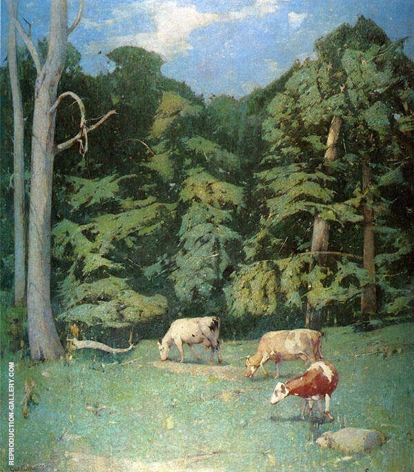 The Wood Pasture 1930 By Emil Carlsen