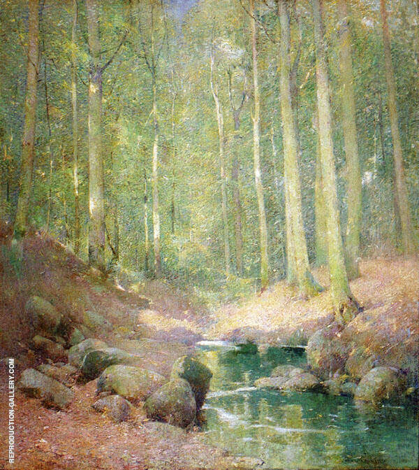 Through The Woods By Emil Carlsen