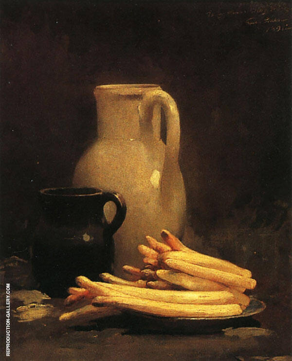 White Asparagus By Emil Carlsen