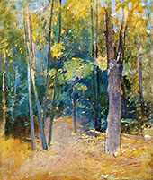 Wooded Interior By Emil Carlsen