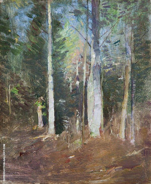 Wood Interior ca1920 By Emil Carlsen