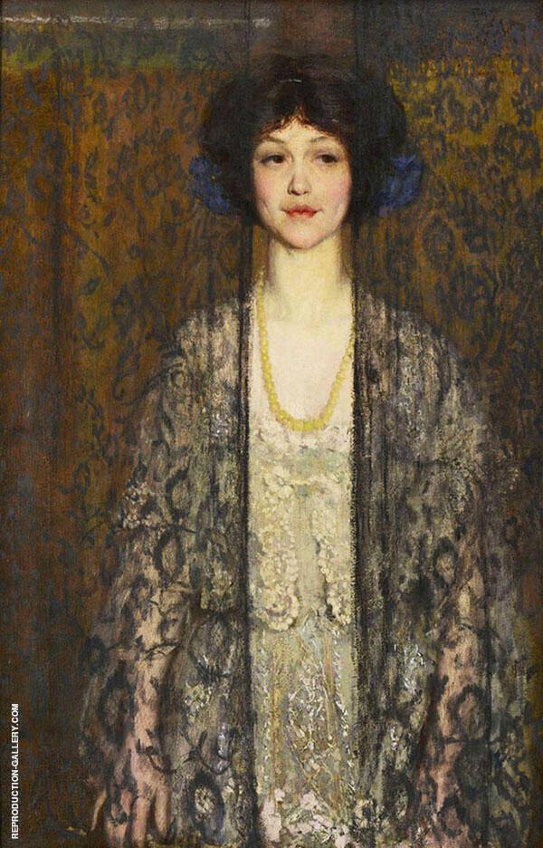 La Donna also known as Mi Velata Painting By Philip Leslie Hale