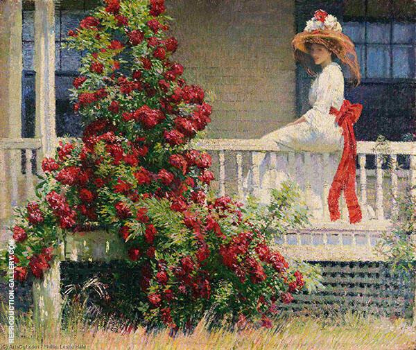 The Crimson Rambler 1908 Painting By Philip Leslie Hale