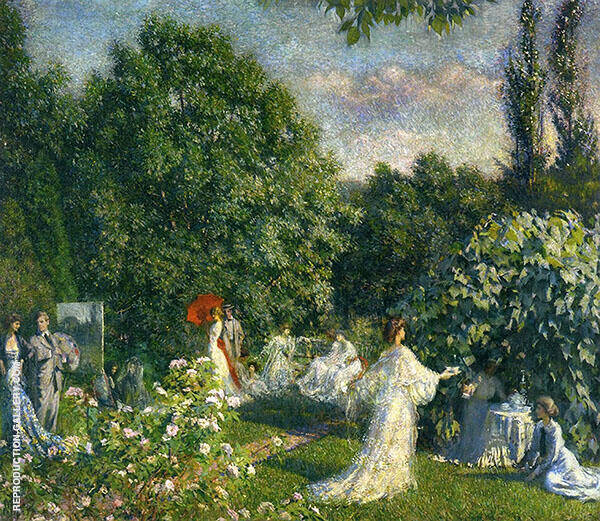 The Garden Party Painting By Philip Leslie Hale - Reproduction Gallery