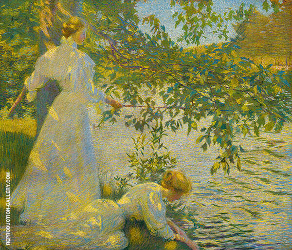 The Water's Edge Painting By Philip Leslie Hale - Reproduction Gallery