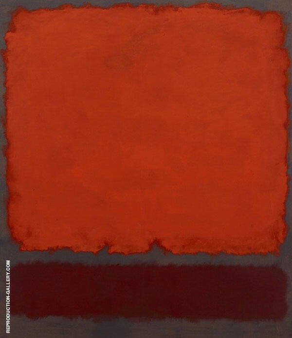 Orange, Orange and Red by Mark Rothko (Inspired By) | Oil Painting Reproduction Replica On Canvas - Reproduction Gallery