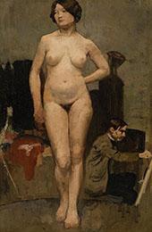 Female Nude By Henri Evenepoel
