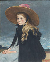 Henriette in a Big Hat By Henri Evenepoel