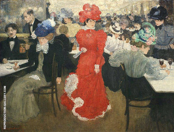In The Cafe d'Harcourt in Paris 1897 By Henri Evenepoel