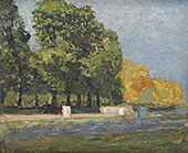 Landscape with Treesand Water By Henri Evenepoel