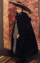 Portrait van Henriette met de Grote Hoed By Henri Evenepoel
