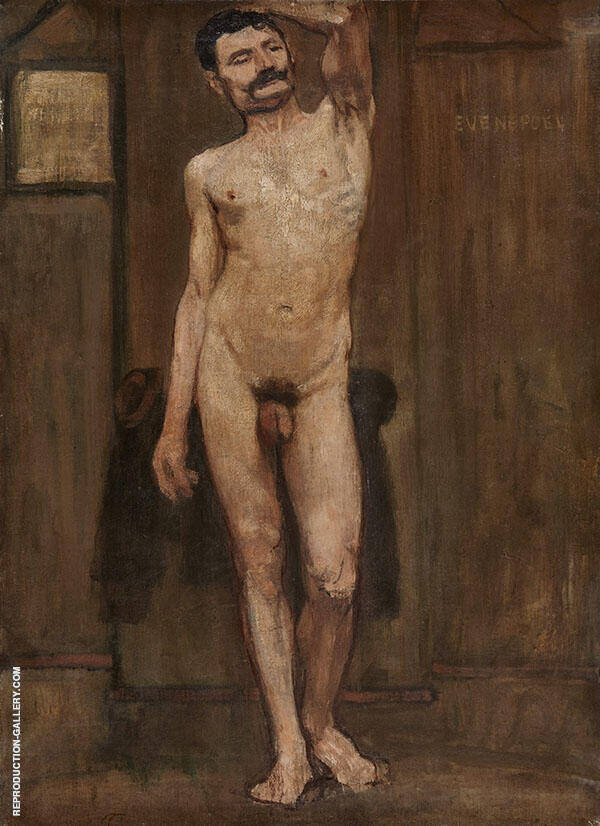 Study of The Naked Man By Henri Evenepoel
