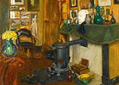 The Artists Studio Greeting Cardl By Henri Evenepoel