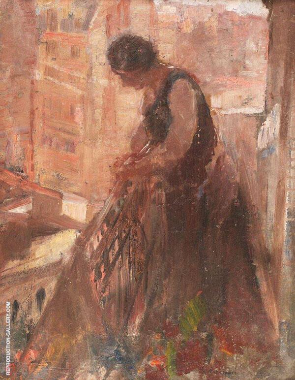 Woman in Balcony By Henri Evenepoel