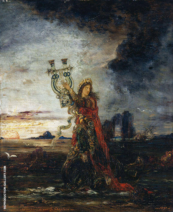 Arion by Gustave Moreau   Oil Painting Reproduction Replica On Canvas - Reproduction Gallery