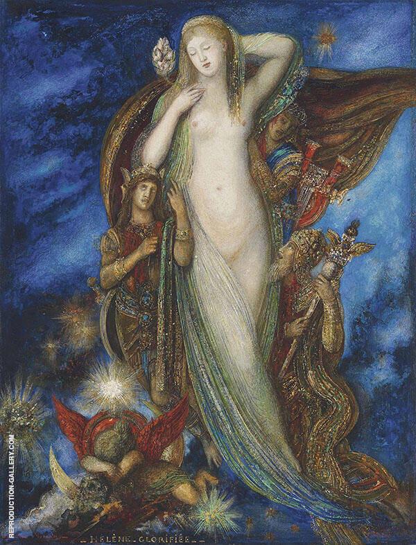 Helene Glorifiee By Gustave Moreau