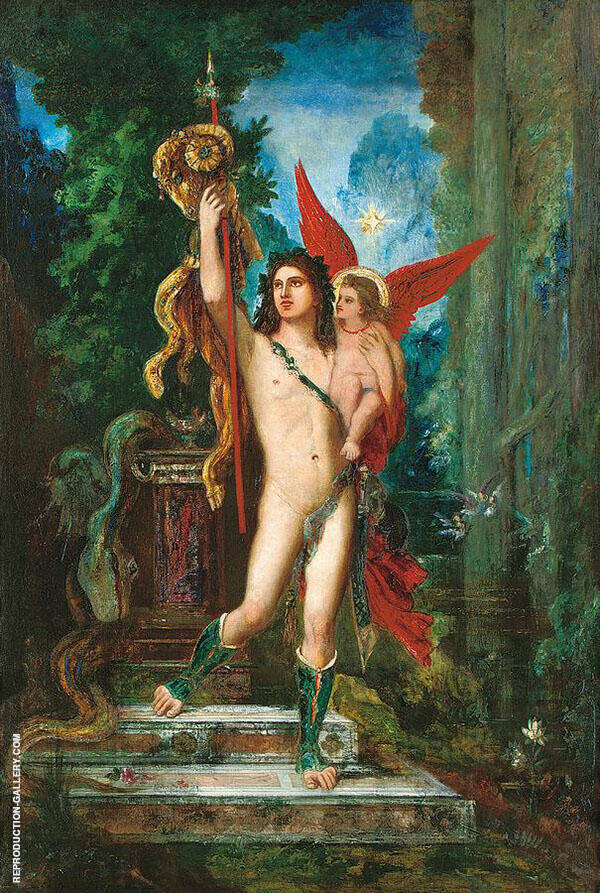 Jason and Eros by Gustave Moreau | Oil Painting Reproduction Replica On Canvas - Reproduction Gallery