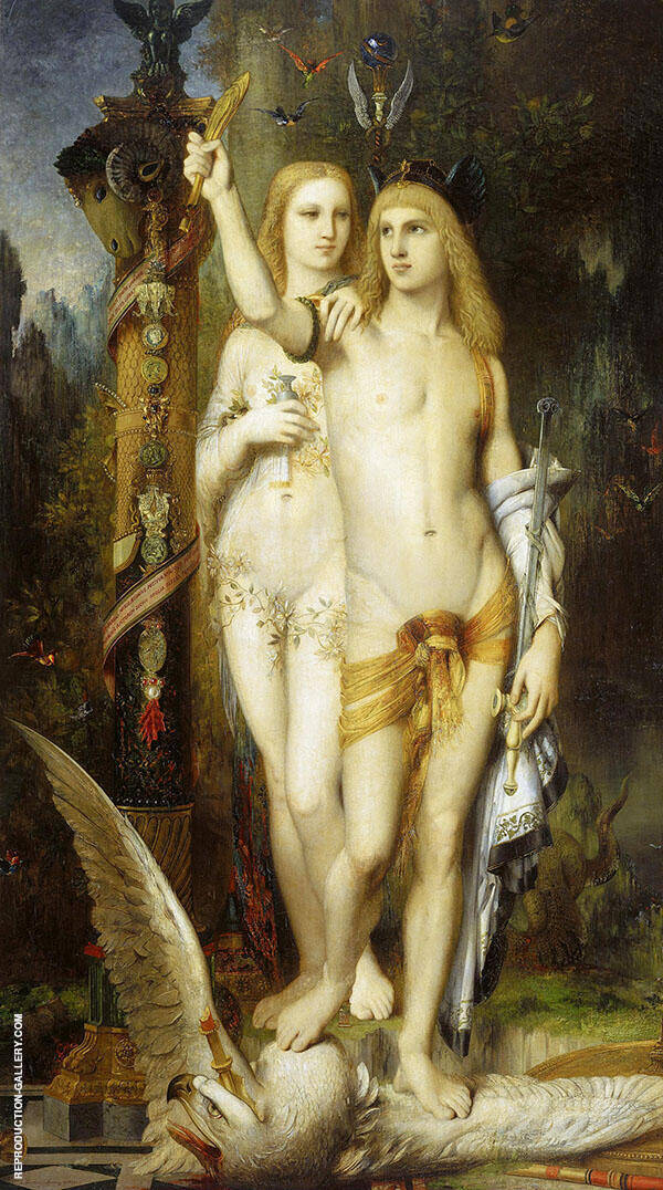 Jason and Medea 1865 by Gustave Moreau | Oil Painting Reproduction Replica On Canvas - Reproduction Gallery