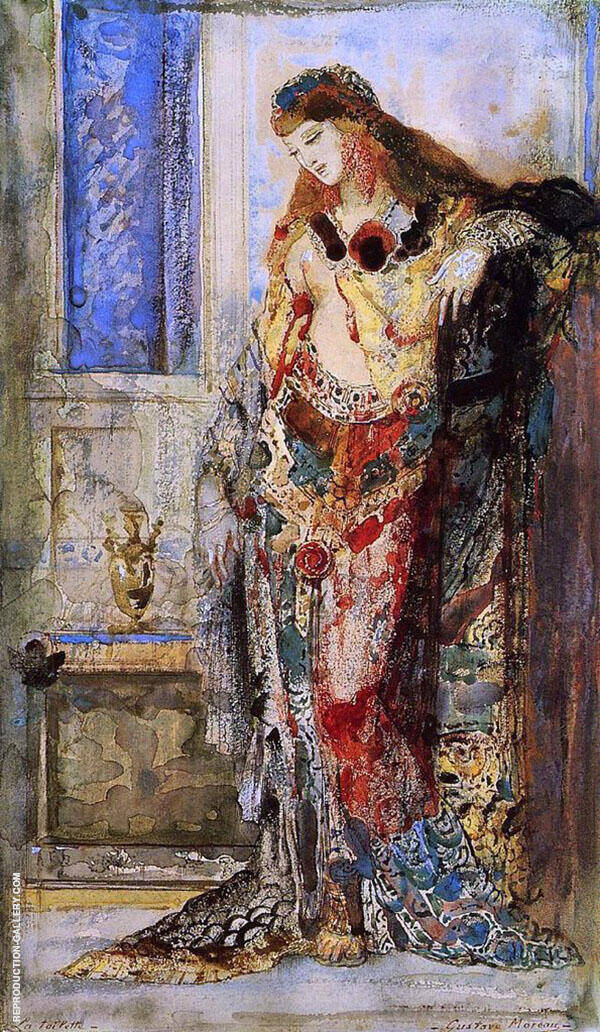 Toilette by Gustave Moreau   Oil Painting Reproduction Replica On Canvas - Reproduction Gallery