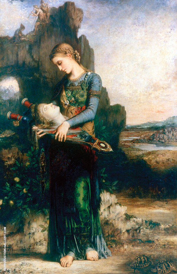 Musee Dorsay 1865 by Gustave Moreau   Oil Painting Reproduction Replica On Canvas - Reproduction Gallery