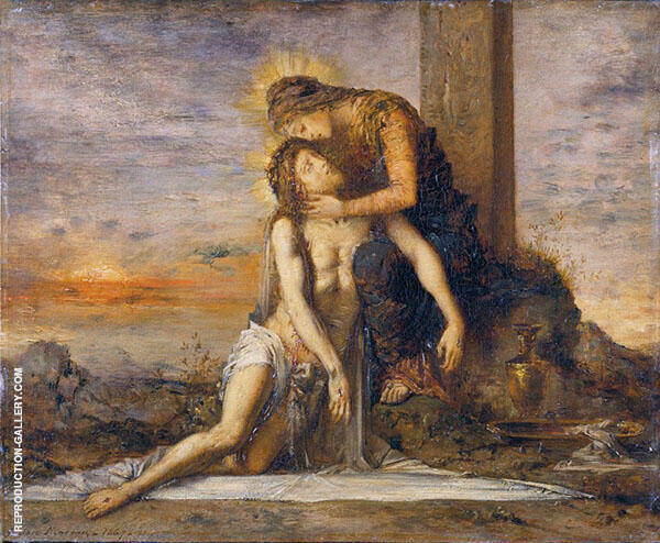 Pieta 1867 by Gustave Moreau   Oil Painting Reproduction Replica On Canvas - Reproduction Gallery