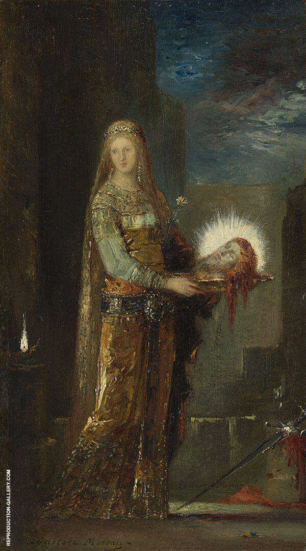Salome with The Head of John The Baptist by Gustave Moreau | Oil Painting Reproduction Replica On Canvas - Reproduction Gallery
