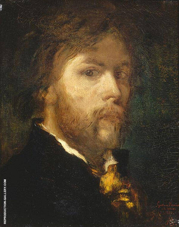 Self Portrait 1850 by Gustave Moreau | Oil Painting Reproduction Replica On Canvas - Reproduction Gallery