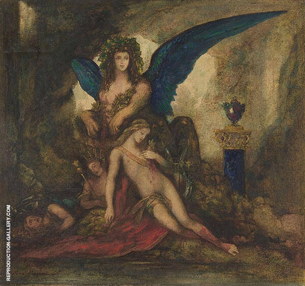 Sphinx in a Grotto by Gustave Moreau | Oil Painting Reproduction Replica On Canvas - Reproduction Gallery